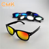 popular sunglasses - CMK KG007 Fashion Designer Multi colors Mirror Lens Children Sunglasses Kids Popular Rivets Eyewear
