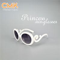 popular sunglasses - CMK KG009 White Leopard Princess Sunglasses UV400 Elegant Girls Sunglasses Children Sunglasses Kids Popular Rivets Eyewear