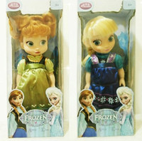 Girls baby music boxes - 1405z inch IC frozen doll with box Elsa anna with music baby doll action figures mucical frozen dolls