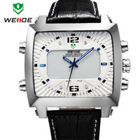 Sport Men's Auto Date 2014 New WEIDE Original Unique Design Men Sports Watch Japan Miyota Quartz Movement 30 Meters Water Resistant 1 year Guarantee