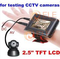 2.5quot; TFT LCD Monitor de seguridad CCTV cámara portátil probador Correa para la muñeca CCTV Tester prueba de la cámara de vídeo