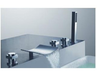 Wholesale Freeshipping B amp R for the bathroom Brass Chromed free standing bathtub faucet and shower mixer LT S202