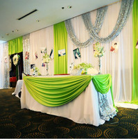 Wholesale Meters Per Ice Silk Curtain Viscose Wedding Party Stage Fabric Decoration Drop Shipping PH0079