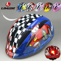 Full Face Deep Blue,Violet,Purple,Red,Blue,Burgund  Wholesale - Limar 242 kids bike bicycle helmet skateboard roller safety cap ultra-light rear light belt