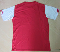Men thailand football jerseys - Arsenal home red jersey top quality embroidery thailand version football shirt Mix order