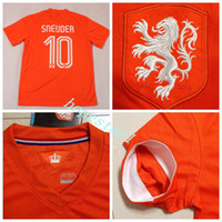 Wholesale Holland Soccer Jerseys Wesley Sneijder Football Jersey Uniforms Kits Clothing Discount World Cup T Shirts Cheap Thailand Custom Top