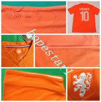 world cup soccer t-shirts - Netherlands Soccer Jerseys Wesley Sneijder Football Jersey Uniforms Kits Clothing Discount World Cup T Shirts Cheap Thailand Custom Top