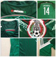 Wholesale Mexico Soccer Jerseys Chicharito Hernandez Football Jersey Uniforms Kits Clothing Discount World Cup T Shirts Cheap Thailand Custom