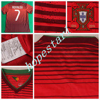 Wholesale Portugal Soccer Jerseys Cristiano Ronaldo Football Jersey Uniforms Kits Clothing Discount World Cup T Shirts Cheap Thailand Custom Home