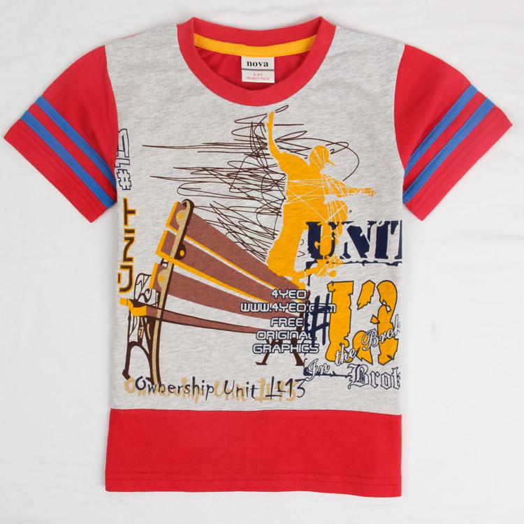 2017 Korean Kids Clothes Nova 2014 Summer Designer Boys T Shirts ...