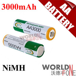 Wholesale BTY AA mAh Battery V Ni MH Rechargeable Battery for LED Flashlight Toy PDA B WF RB032
