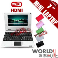 Wholesale FS quot inch Mini Netbook Laptop Android VIA DDR3 A9 GHZ M RAM GB HDD HDMI WIFI Russina Keyboard Option
