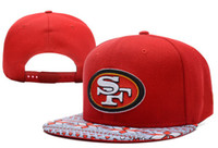 Wholesale 2014 New Football Hats Red ers Snapback Cap Brand Sports Cap Cheap Adjustable Hats SF Snap Back Fashion Style Flat Cap Allow Mix Order