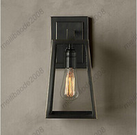 Traditional artistic wall sconces - Minimalist Artistic Loft Wall Lamp Outdoor Wall Lamp E27 E26 Base Bulb Included Electroplated Finish Wall Sconces HSA341