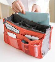 Wholesale 2014 new Makeup Bag Purse Cosmetic MP3 Mp4 Phone Storage Organizer Sundry Bags Cosmetics Bags Multi Two Zipper Bag