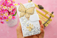 For Apple iPhone Diamond  White New Arrival Luxury Diamond Bling Metal Flower Flip PU Leather Wallet Case Cover For Samsung Galaxy Note 3 2 S5 S4 S3 iPhone 5 5S 5C 4 4S
