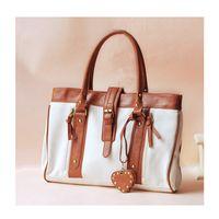 Handled fashion women leather hand bags - Korean Style Fashion Bag Women Hand bags PU Leather Shopper Handbag Woman Tote Shoulder Bags White for Shopping Bag H10125