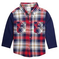 Wholesale Children s shirts Autumn cotton plaid boy long sleeve shirt