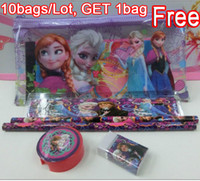 Wholesale Frozen stationery set for Students Office amp School Supplies Frozen Pencil Cases Frozen Bags Frozen Ruler Frozen Pencils