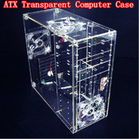 Wholesale Diy Acrylic Full Transparent Computer Case Vertical Computer Case Transparent Standard Atx Computer Components