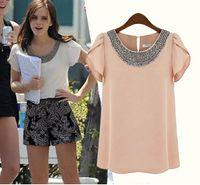 Women Women chiffon S-XXL!!High Quality Chiffon Shirts--2014 Women Spring summer chiffon casual vintage Blouses Pullover summer clothing A38