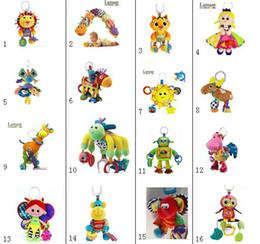 Wholesale Lamaze Toy Crib toys with Rattle Teether Infant Early Development Toy Stroller Music Baby Doll Toy Lamaze Cloth Book Books Style