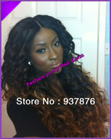 Wig,Half Wig Human Hair Black On sales ombre two tone Full lace wig Front Lace wig pretty full lace wig brazilian virgin human hair instock free shipping