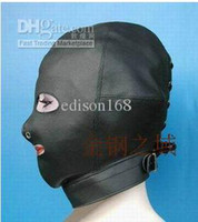 Halloween Valentine's Day Halloween Christmas  Wholesale - Hot Sex product! Soft leather bondage Mask open mouth eye Headgear Adult sex toys bed game set.