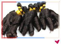 Pelo caliente brasileño de la reina del cabello de la reina de la tía Aunty Funmi del enrollamiento del pelo de la Virgen brasileña del pelo 3Pcs / Lot Grado 6A Remy Color de la armadura de la extensión del pelo humano # 1b