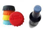Silicone Rubber food saver - Beer Saver Wine Bottle Cap Beer Beverage Food Saver Lid Mixed Colors Set of