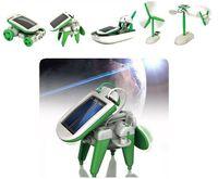 Wholesale New DIY in Solar Educational Kit Toy Boat Fan Car Robot Power Moving Dog Novelty Toys B017