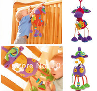 100 % EU US  new safety for baby/kids/children use CE pas Green,Red,Yellow,Multicolor Free shipping 2014 new Baby rattle toys Germany TOLO Maverick deer car bed lathe hanging plush toys baby mobiles kid rattles