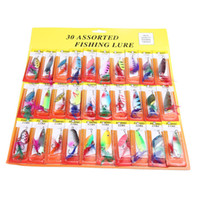 Wholesale 2014 NEW Assorted Minnow Fishing Lure Set Feather Metal Lures Hooks Hard Plastic Bait Tackle Tool H10620