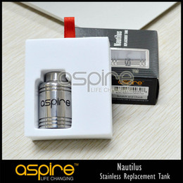 Wholesale Aspire Original Nautilus BDC Replacement Stainless Steel tank Genuine Aspire Grooves DHL Free