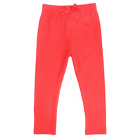 Wholesale nova new products cheap solid tights for kids salmon red baby leggings pants girls clothing G3769