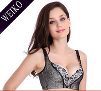 Bras Cotton Normal Wholesale-2296 Retail 1 pc 2013 new woman young girls bra adjustment massage oil push up thin cup A B C deep V embroidery floral lace