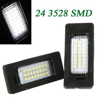 Wholesale 2Pcs Error Free SMD LEDs Car License light Led Lamp Plate LED Light Lamp for BMW E39 E60 E61 E90 Series K757