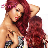 Wholesale New Style Wig Synthetic Women s Hair Weave Kinky Dark Brown Long Curly Lace Wigs Cosplay hair Cheap Bang Wigs Color
