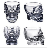 glass cups wholesale - 2014 Creative skull cup Crystal Skull cup Home Bar Drinking Ware Crystal Skull Head Vodka Whiskey Shot Glass Cup SKull Mugs