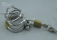 Male Chastity Cage  Wholesale - 2013 Latest Design Super Small Male Cock Cage Chastity Art Device Cock ring BDSM Sex Stoys