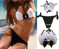 Women Bikinis Patchwork swimwear High Quality Pad Push Up Women Bikinis Sets White and Black Diamond Swimming Becahwear biquini beach clothes tanga freeshipping