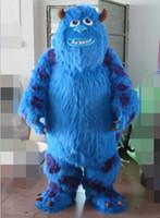 avec un mini-ventilateur à l'intérieur du monstre adulte tête de WR210 inc Sulley costume de mascotte pour adultes