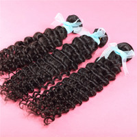 Malaysian Hair Deep Wave queensofhair 5A Grade Unprocessed Virgin Human Hair Weave Deep Curly Hair Can dye and bleached 3 Bundle 8''-30'' 6A Grade Real Soft Full Cutical Hair