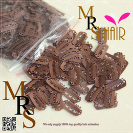 Wholesale Small size mm Light brown clip ins Extensions teeth Snap size Clip DIY weaves wig Clips for hair blonde products
