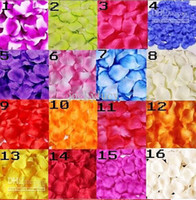 Wholesale 2014 New Wedding Artificial Silk Red Rose Flower Petals For Wedding Party Decoration Cheap In Stock