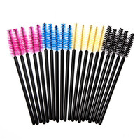 Wholesale High quality Makeup Brush Eyelash One off Eyelash Brush Mascara Wands Applicator Disposable Eye Lash bag