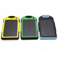 Power Bank Universal  5000mAh Solar Panel Charger Weather Dust Shockproof Dual Port Indicator light External Battery Pack power bank Charger for Samsung S4 S5 m8