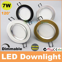 Wholesale 2014 New W led downlight dimmable recessed ceiling light beam angle AC110V V CE SAA C tick TUV years warranty