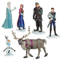 Wholesale Frozen Figure Play Set Frozen Princess Anna Elsa figure set movie princess doll toy LK4034