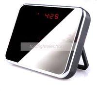 Wholesale Spy Mirror Clock Camera Remote Control DV Motion Detection Hidden Camcorder Video Recorder DVR Clock